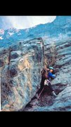 Rock Climbing Photo: Lots of parallel side cracks. Which my tiny rack o...