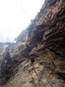 Rock Climbing Photo: Heading up First Armadillo