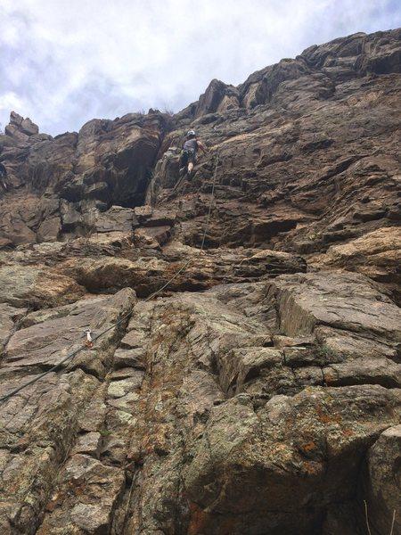 Rock Climbing Photo: Leading Tortoise Scute
