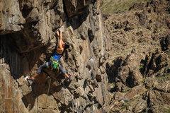 Rock Climbing Photo: Rita Shin on Sex Deviant.    Photo by S. Cox