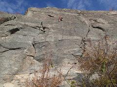 Rock Climbing Photo: Climber on Butte-eous Maximus (5.7+**) at Big Butt...