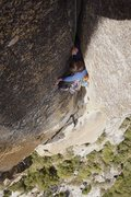 Rock Climbing Photo: Coming up P3.. it's steep up there