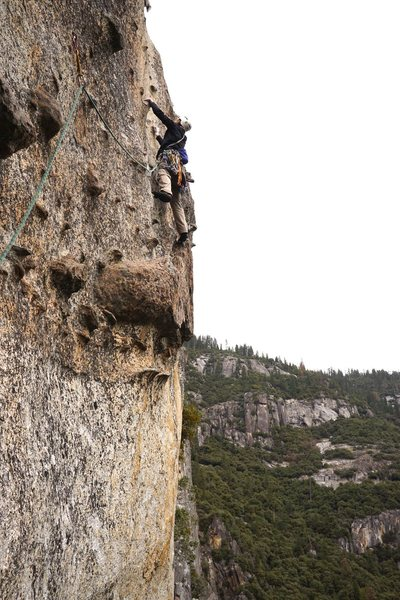 Rock Climbing Photo: The sweet headwall pitch