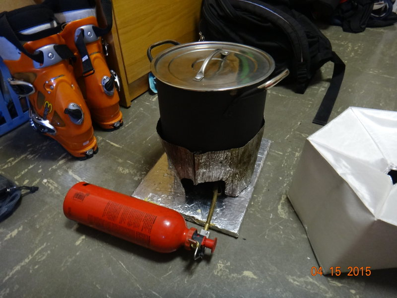 Rock Climbing Photo: Stove Setup