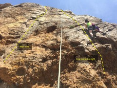 Rock Climbing Photo: Picture doing a line to the right side of the main...
