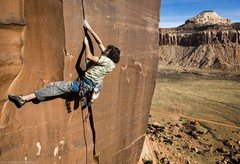 Joseba Larreategi on the 2nd ascent.