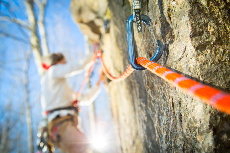 Rock Climbing Photo: Will Wild on unnamed route at Mt. Tom in Arcadia N...