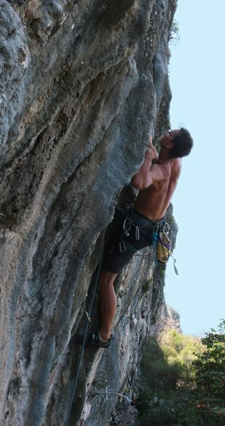 Rock Climbing Photo: Marcus Bergvin on the 2nd ascent of Tufa Two.