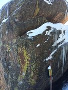 Rock Climbing Photo: Tears when it just had a two bolt anchor after a s...
