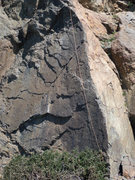 Rock Climbing Photo: Mystery Routes, unknown crack and arete