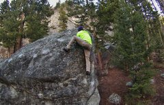 Rock Climbing Photo: Traverse all the way right on some good holds and ...