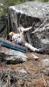 Rock Climbing Photo: Get low on the sit start! Really crank that heel i...
