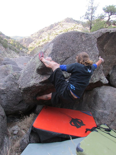 Rock Climbing Photo: frogger for sure