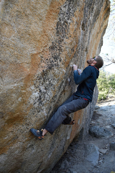 Rock Climbing Photo: The gate keeping smile mocks Bailey as he eyes the...