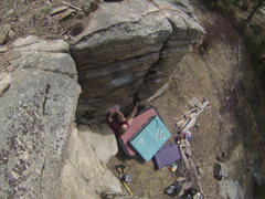 Rock Climbing Photo: View of the start from up above.