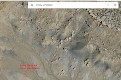 Google earth view of some of the boulders along the Molen Reef, right off the Moore Cutoff Rd