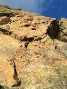 Rock Climbing Photo: Looking up from the belay