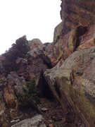 Rock Climbing Photo: The rap W from the top.  You can climb down this l...