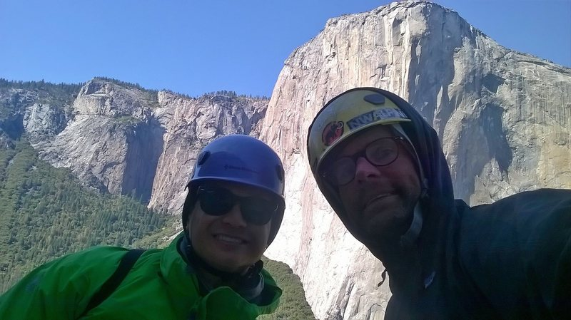 Chillin w el cap on the background on top of central pillar