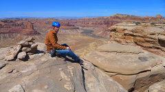 Rock Climbing Photo: On the southern summit.