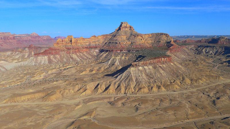 Window Blind Peak as seen from Bottleneck Mesa.