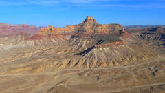 Rock Climbing Photo: Window Blind Peak as seen from Bottleneck Mesa.