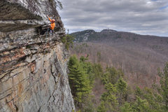 Rock Climbing Photo: Josh in his Tennessee orange.  Go Vols.