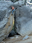 Rock Climbing Photo: The crux.