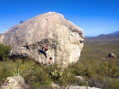 "Rock Climbing Photo: Jonatan Veilleux on the ""1984 Boulder""."