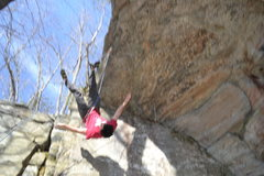 Rock Climbing Photo: I fear the wolf now. My belayer came out from unde...