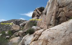 Rock Climbing Photo: East Crags area - Looking WNW.  Trail is really ov...