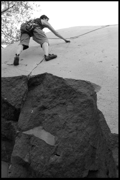 Rock Climbing Photo: Dad top roping Iceburg...