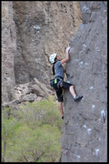 Rock Climbing Photo: A young lady I met at the gorge making it look eas...