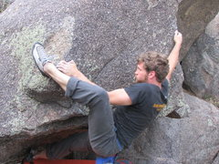 Rock Climbing Photo: Nice heel hook.