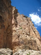 Rock Climbing Photo: Big Froggy follows the exposed arete just right of...