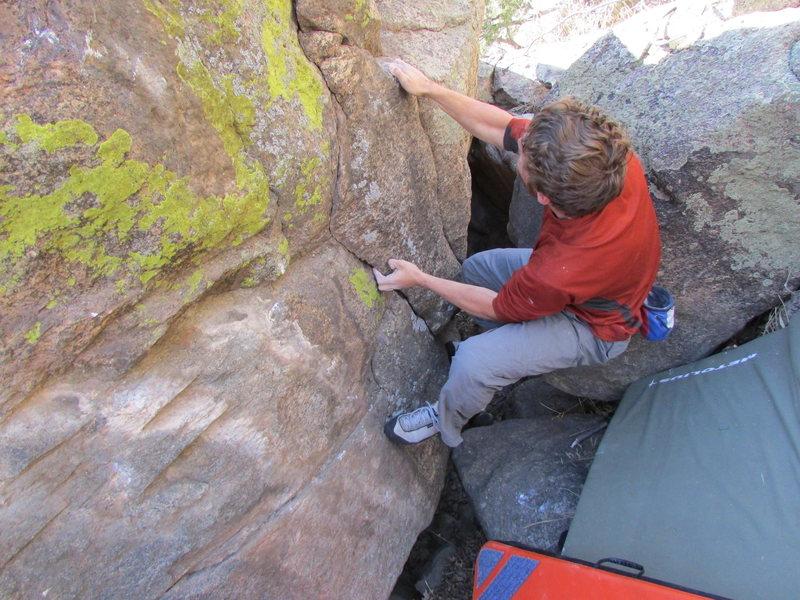 Rock Climbing Photo: Different start.