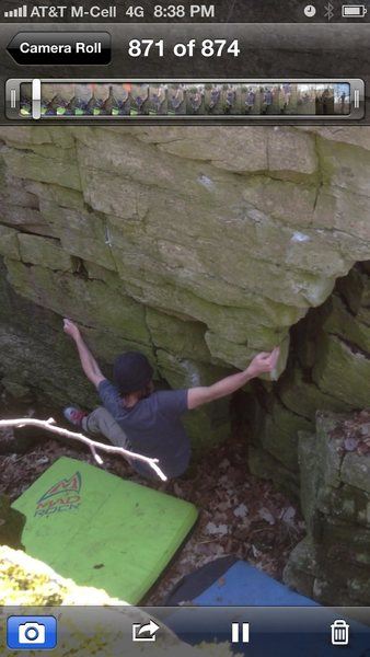 Rock Climbing Photo: My left hand is on the start right is out to the f...