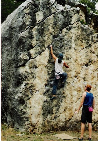 Early 1990s pics of the triangle boulder