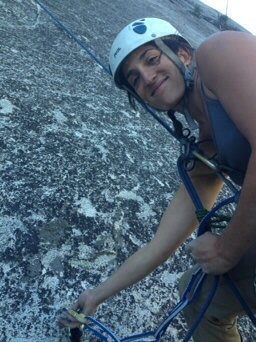 rapping off Glacial Point Apron, Yosmite