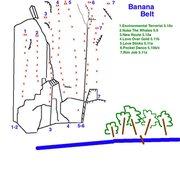 Rock Climbing Photo: Topo To Banana Belt