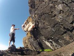 Rock Climbing Photo: The Traverse Presque Isle