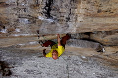 Rock Climbing Photo: Boulder Local Jim Mankovich, at 58 years old, atte...