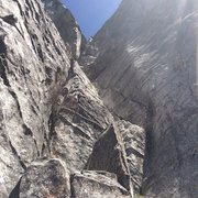 Rock Climbing Photo: Looking at the start of Corrugation Corner, Lovers...