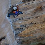 Rock Climbing Photo: Shelma in the crux of Rock Wars at the RRG
