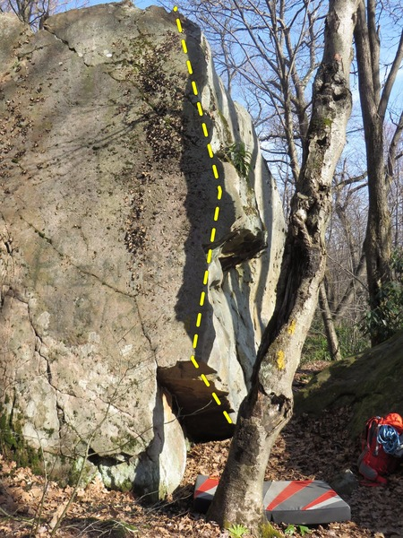 Rock Climbing Photo: Sit start in the wedge cut out, no designated star...
