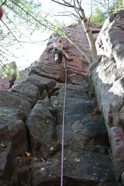 Rock Climbing Photo: Mike Sohasky leading Innocence 4-18-15.