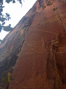Rock Climbing Photo: A shot from the base of Flight of the Locusts. Pum...