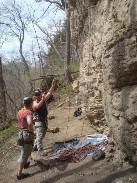 Rock Climbing Photo: The consultation