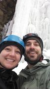 Rock Climbing Photo: Wife and I ice climbing.