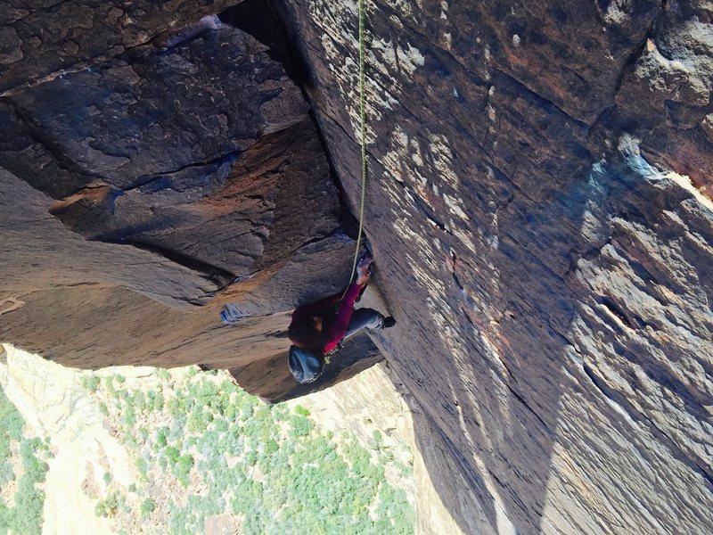 Rock Climbing Photo: Michelle on P4